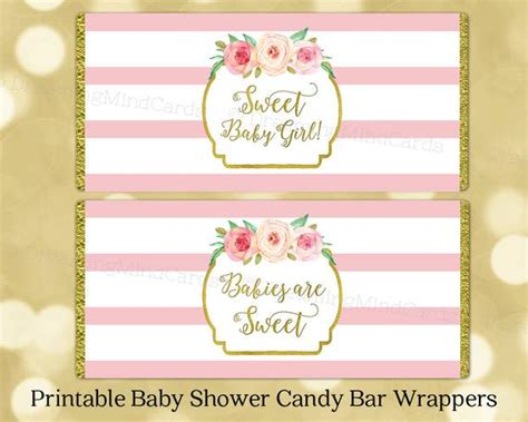 Bar Labels For Baby Shower by Printable Bar Wrapper Labels Baby Shower Pink