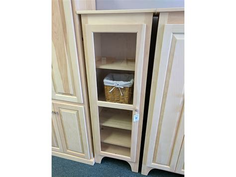 Jelly Cabinet With Glass Doors Shaker Furniture Of Maine 187 Pine 5 Single Glass Door Jelly