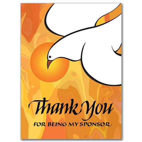 Confirmation Sponsor Thank You Letter Thank You For Being My Sponsor Rcia Or Confirmation Sponsor Thank You Cards