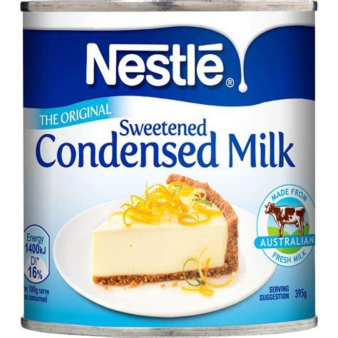 nestle sweetened condensed milk 395g woolworths