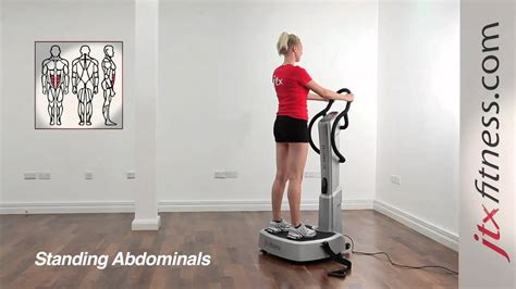 vibration plate exercises how to do a standing abdominal workout on a vibration plate