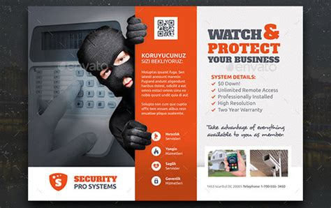 nice flyer templates  security company desiznworld