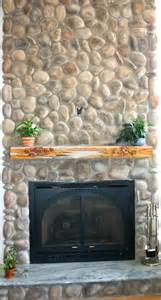 River rock stone fireplace pictures north star stone