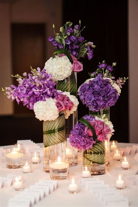 purple wedding centerpieces on pinterest inexpensive purple wedding ideas with sophistication purple wedding