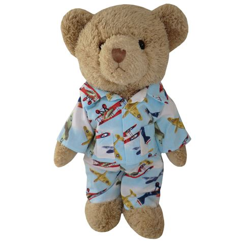 Teddy Piyama by Teddy In Aeroplane Pyjamas Powell Craft