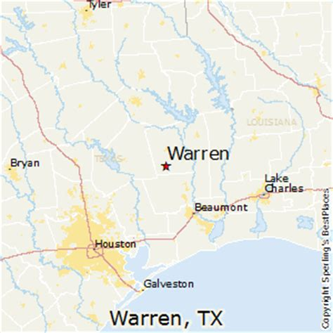 warren texas map best places to live in warren texas