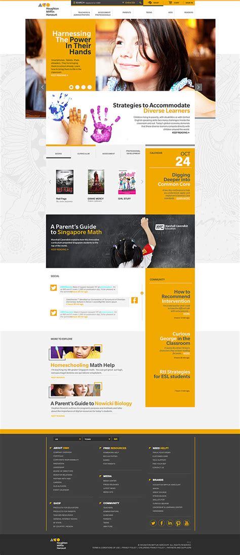 web layout behance hmh houghton mifflin harcourt copy on behance