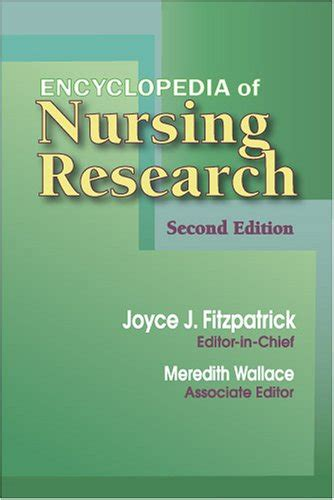 Mba Encyclopedia by Encyclopedia Of Nursing Research Second Edition By Joyce
