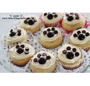 To Make The Pawprints On Cupcakes I Used Junior Mints And