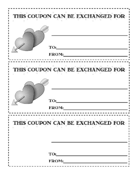 Valentines Coupon Version 2 Template Education World S Day Coupon Template