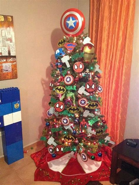 super heroes tree navidad christmas pinterest