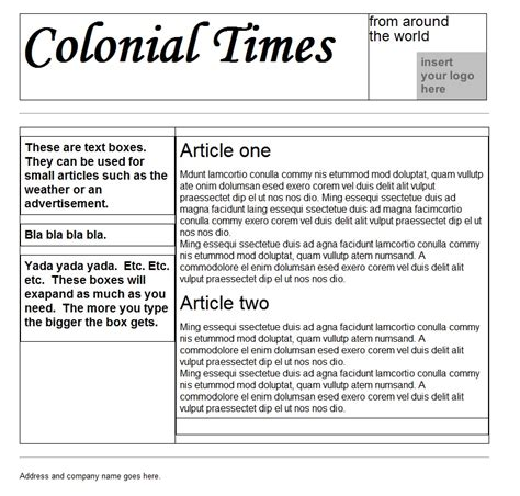 newspaper articles template search results for newspaper templates for microsoft word