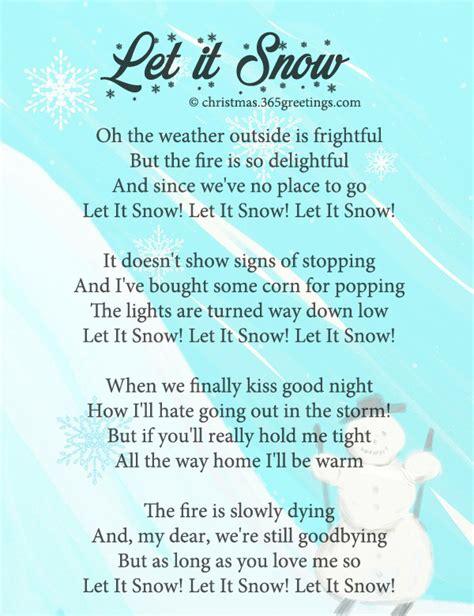 printable lyrics let it snow christmas hymns you christmas cards