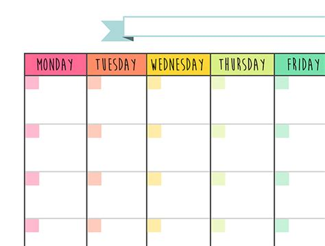 printable weekly calendar no dates calendar monthly planner free printable on behance