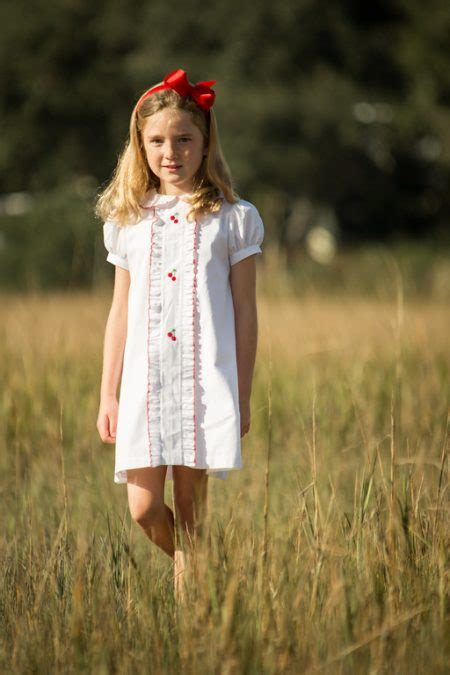 vintage cherry dress childrens clothing smocked heirloom