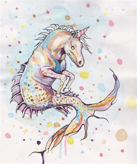 seahorse unicorn by rainboww horror on deviantart