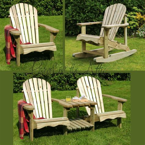 Unfinished Wood Patio Furniture by Solid Wood Outdoor Adirondack Chair Garden Patio Wooden