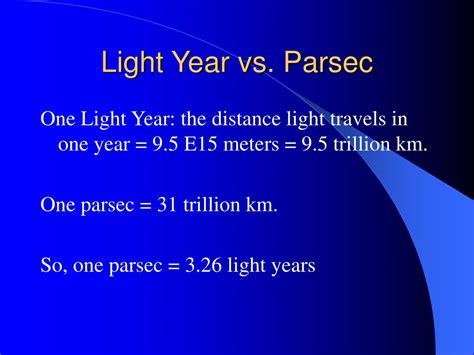 Distance Light Travels In One Year by Ppt Parallax Powerpoint Presentation Id 471374