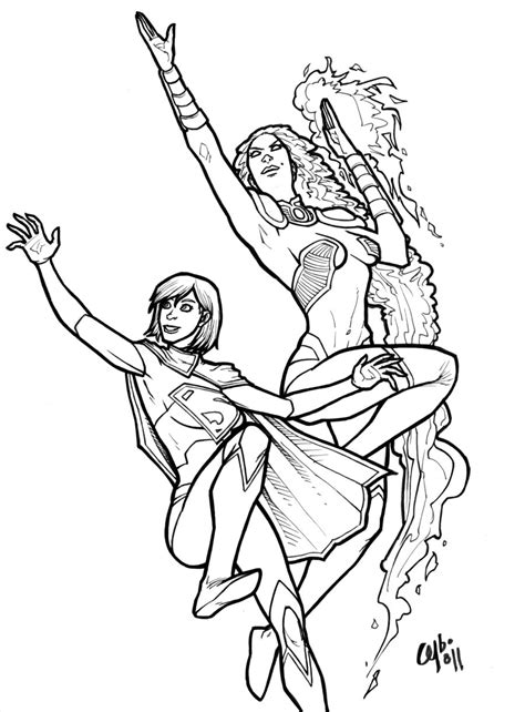 free coloring pages of supergirl pictures
