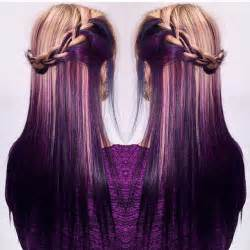 black with purple colour in their hair best 25 dark underneath hair ideas on pinterest