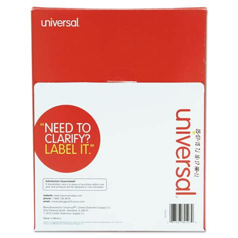 universal laser printer labels template universal unv80108 laser printer permanent labels 3 1 3 x