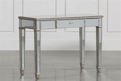 Vanity Desks With Mirror by Hayworth Mirrored Vanity Desk Living Spaces