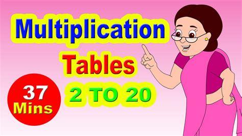 multiplication tables for children multiplication tables for children 2 to 20 learn numbers