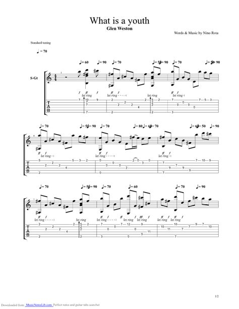 romeo and juliet theme tab what is a youth theme from romeo and juliet guitar pro tab
