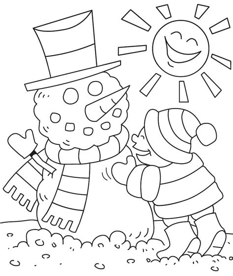 Snow Coloring Pages Free free printable winter coloring pages for