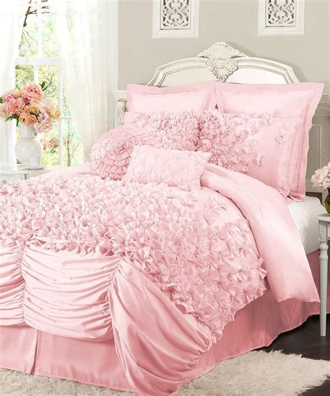 take a look at this pink lucia comforter set on zulily