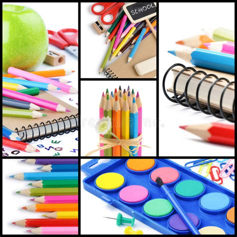colorful office school supplies royalty free stock image colorful school supplies collage stock image image of