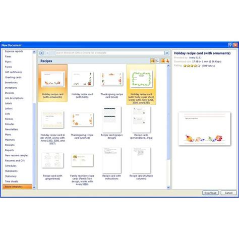 microsoft office templates for word finding microsoft word recipe templates