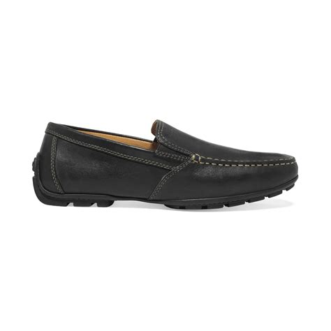 geox mens loafers geox monet venetian loafers in black for lyst