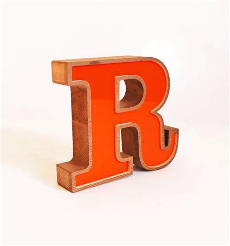 r in block letters orange letter wooden r block letter r vintage 1985 letter r