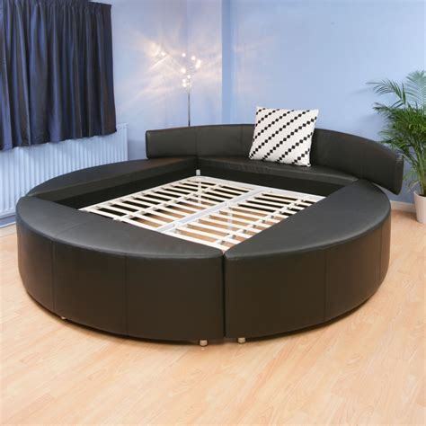 round leather bed super king size round bed black leather massive 9ft wide