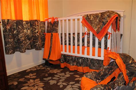 Orange Camo Crib Bedding Camo Just Add Baby Complete Nursery 12 Pc By Lizsstitchesdotcom