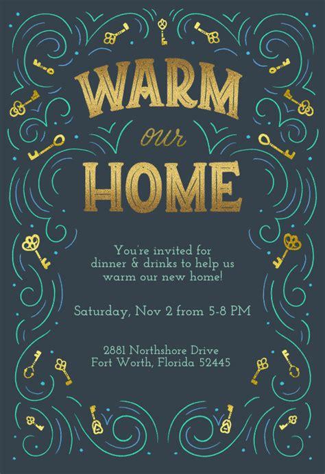 warm  home housewarming invitation template