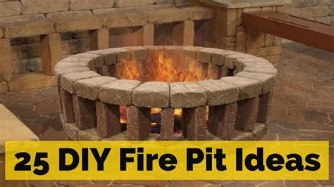18 fire pit ideas for 25 diy fire pit ideas youtube