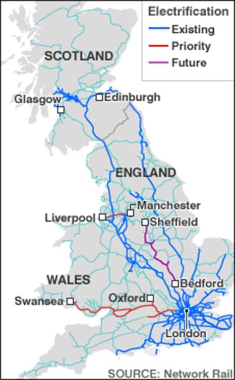 map uk rail lines news uk 163 1bn plan to electrify rail line