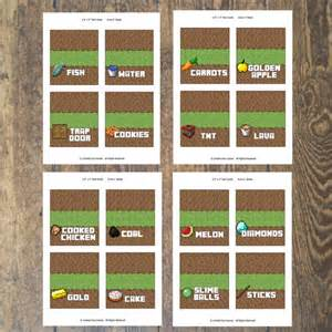 Food Tent Cards Template Free Printable Minecraft Food Tent Cards Galleryhip Com
