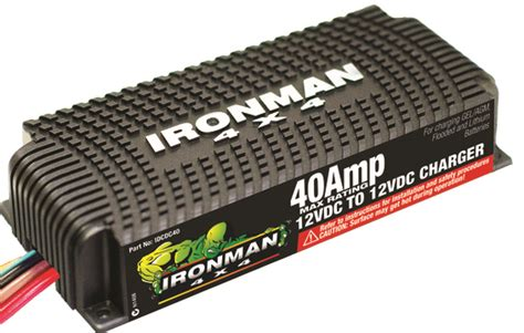 dc dc chargers 40a dc to dc battery charger ironman 4x4