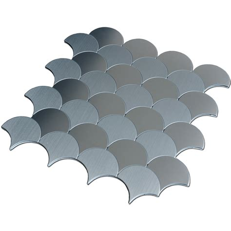 Tile Kitchen Backsplashes 10 Sheets Peel And Stick Backsplashes Tiles Fan Shaped