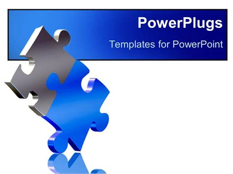 powerpoint template two pieces of puzzle come together as
