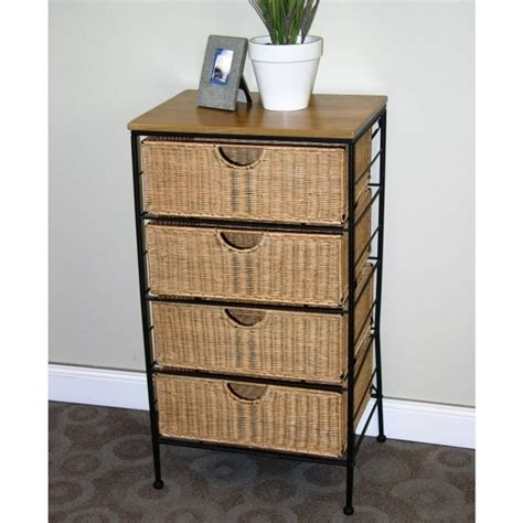 wicker storage drawers best 4 drawer wicker wire cabinet in storage drawers
