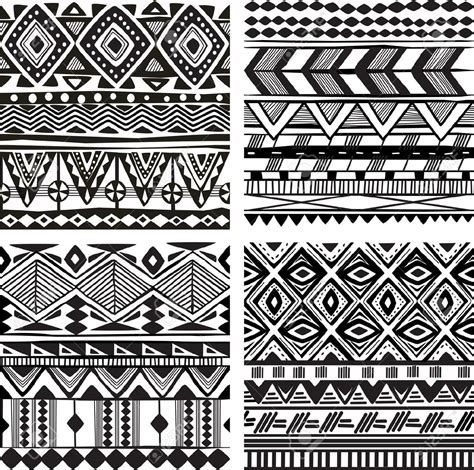 Kemeja Black Line Tribal Blue patterns black and white seamless search patterns africans