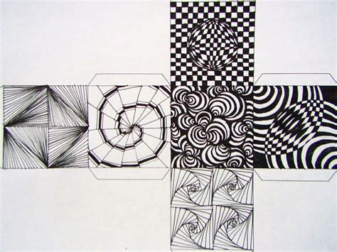 op art cube 5th grade mathematics pinterest op art
