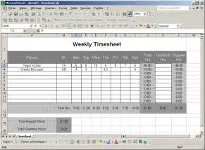 Excel Template For Timesheet by Excel Timesheet Template Madinbelgrade