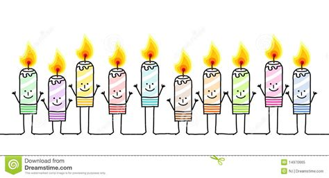 ten color candles royalty  stock photo image