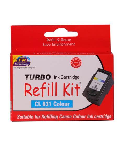 Murah Cartridge Canon 831 Colour Original turbo refill kit for canon 831 colour ink cartridge buy turbo refill kit for canon 831 colour