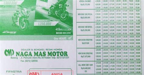 brosur kredit motor honda terbaru  dealer motor